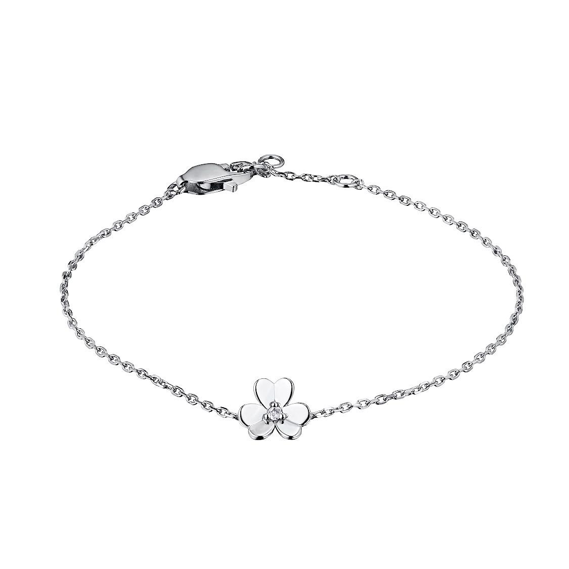 Браслет из серебра с бриллиантом э06Бр031854