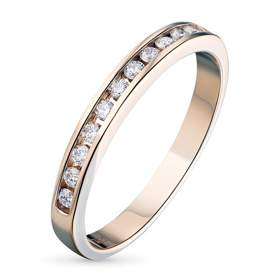 Кольцо из красного золота с бриллиантами э02к041519