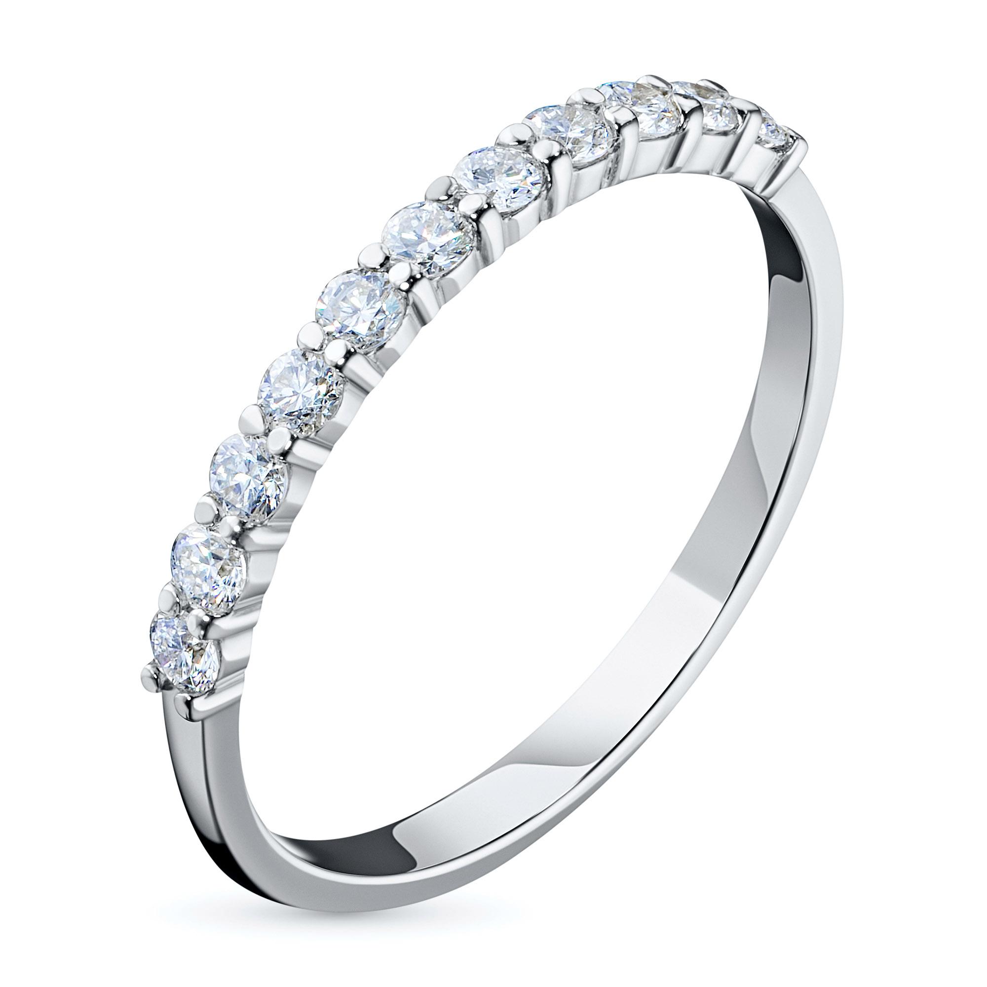 Кольцо из белого золота с бриллиантом э09к121536