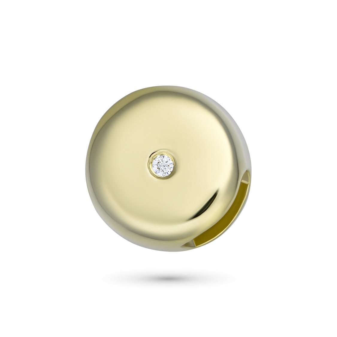 Подвеска из желтого золота с бриллиантом э03п031522