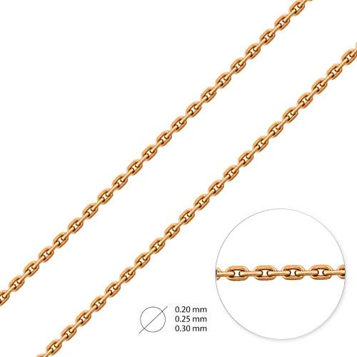 Цепь из красного золота НЦ12-053d0,3
