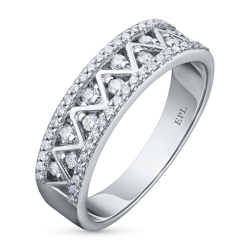 Кольцо из белого золота с бриллиантами э09к101707
