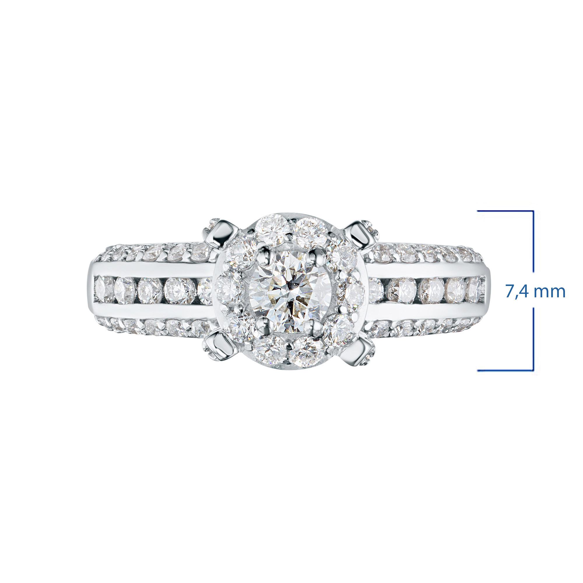Кольцо из золота с бриллиантами э0901кц042103782