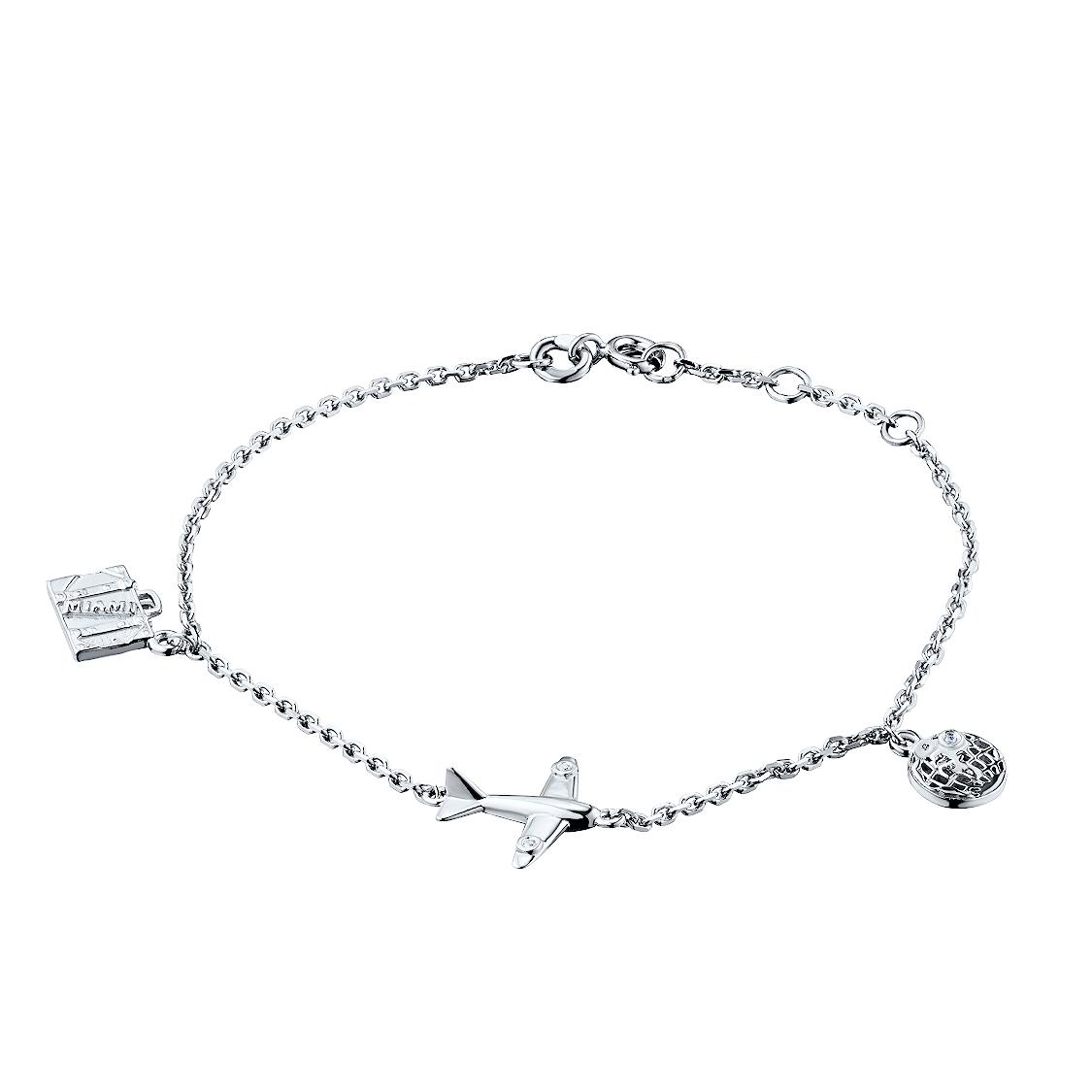 Браслет из серебра с бриллиантом э06брworldsurfer