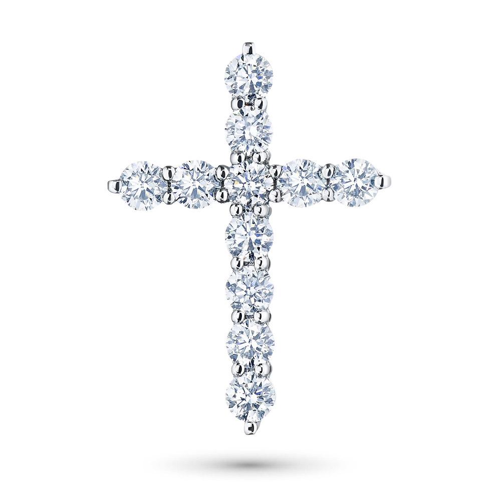 Подвеска из белого золота с бриллиантами э09п071806