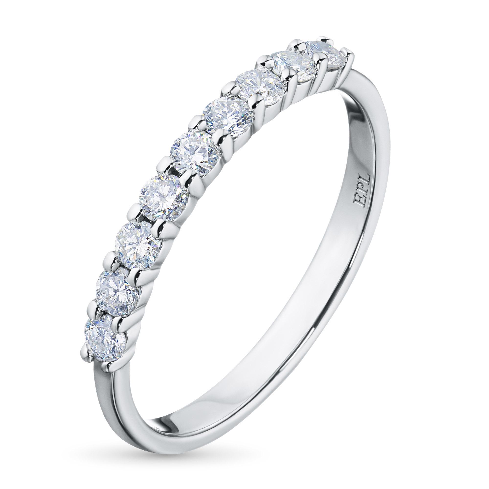 Кольцо из белого золота с бриллиантом э09к121534 фото
