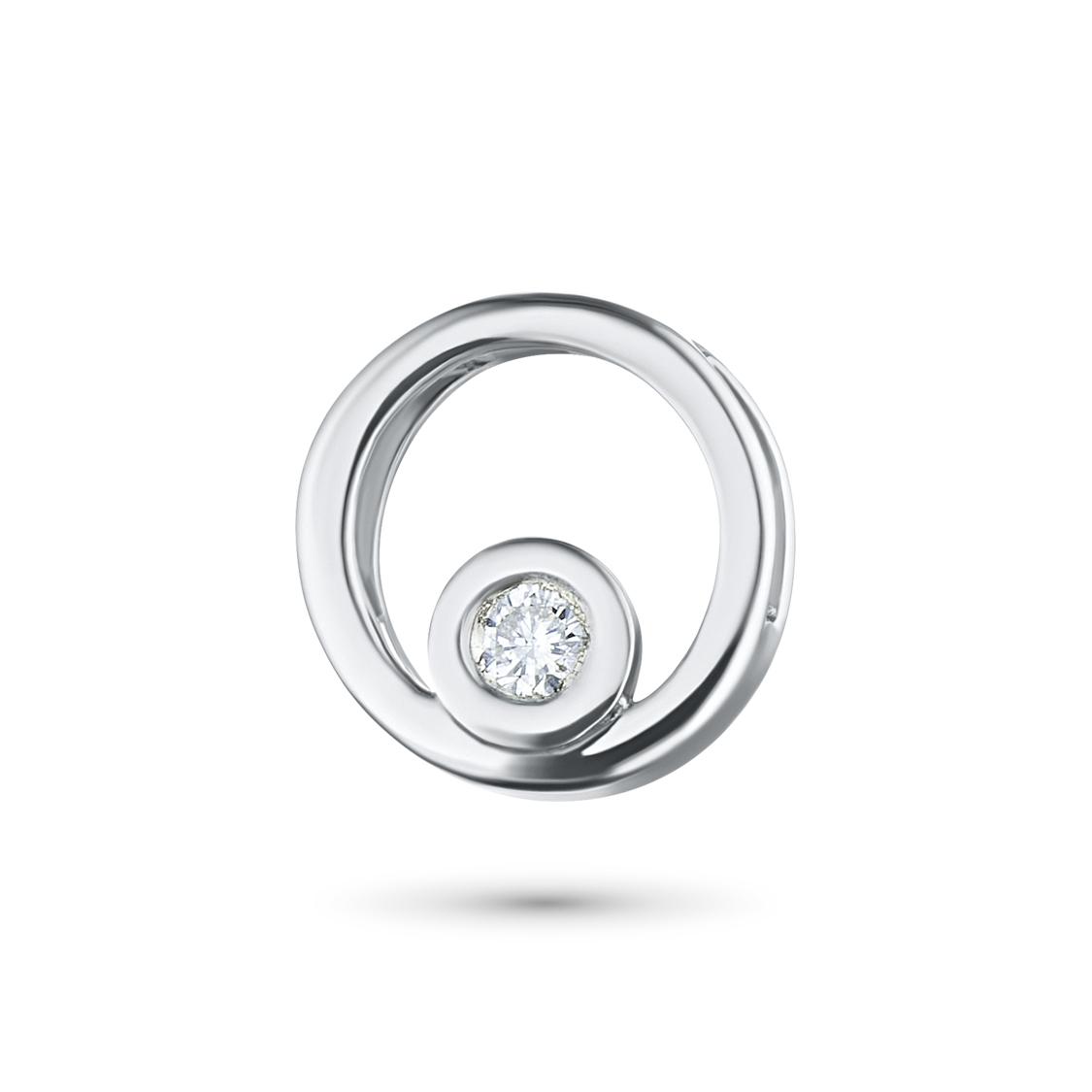 Подвеска из серебра с бриллиантом э06п051146