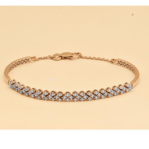 Браслет из красного золота с бриллиантом э02Бр121608