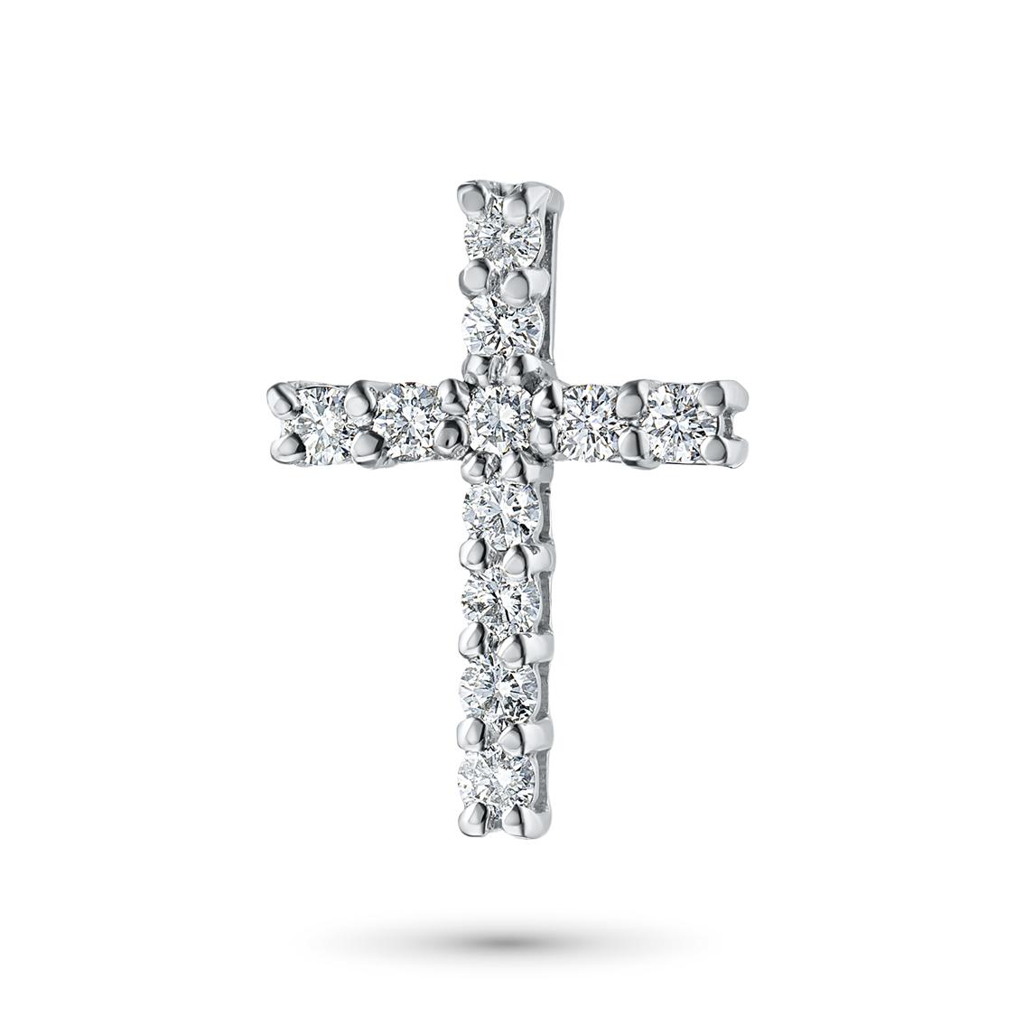 Подвеска из белого золота с бриллиантами ктп09п081703