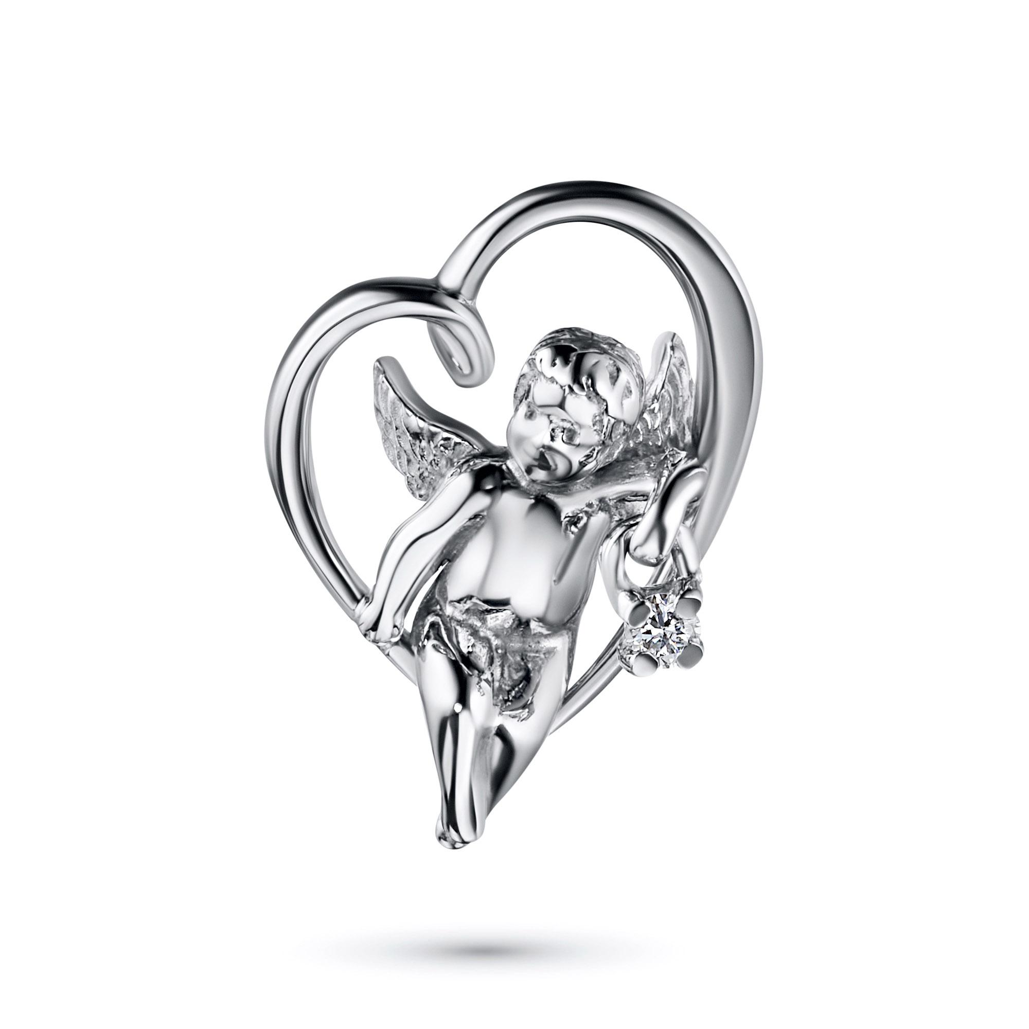 Подвеска из серебра с бриллиантом э0601пд04200838
