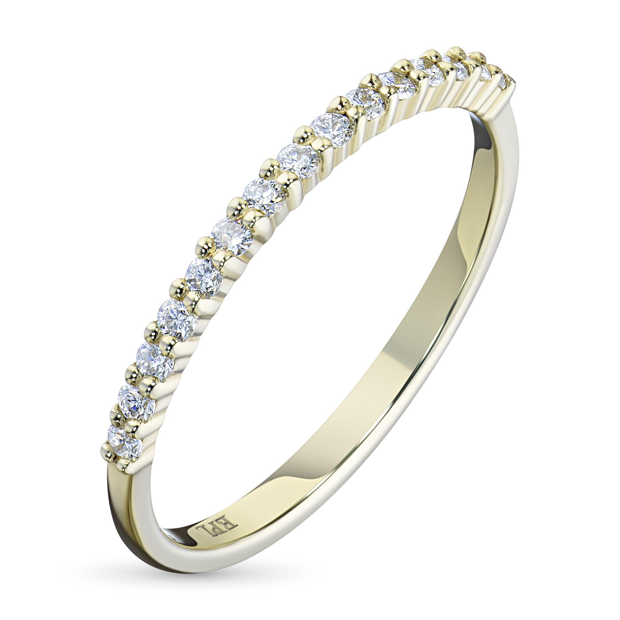 Кольцо из желтого золота с бриллиантом э03к121535