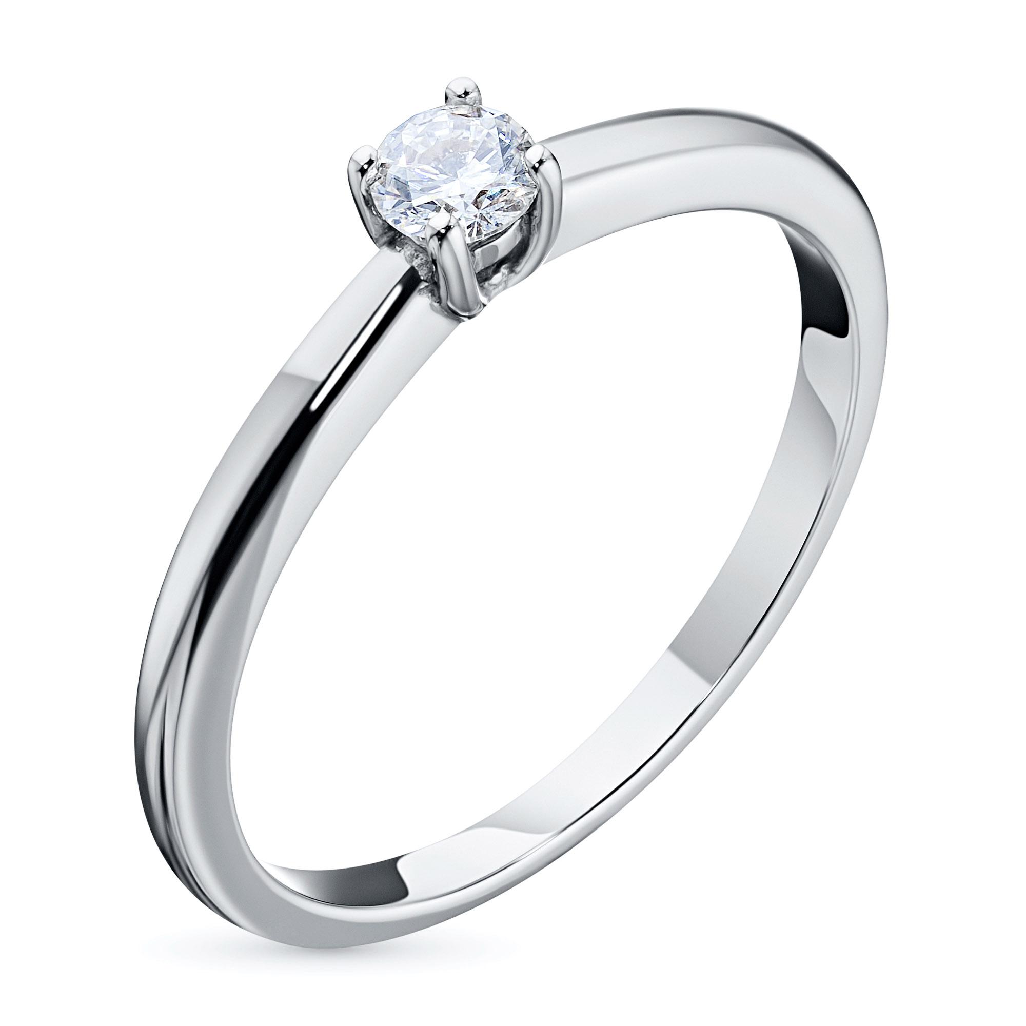 Кольцо из белого золота с бриллиантом э09к011629