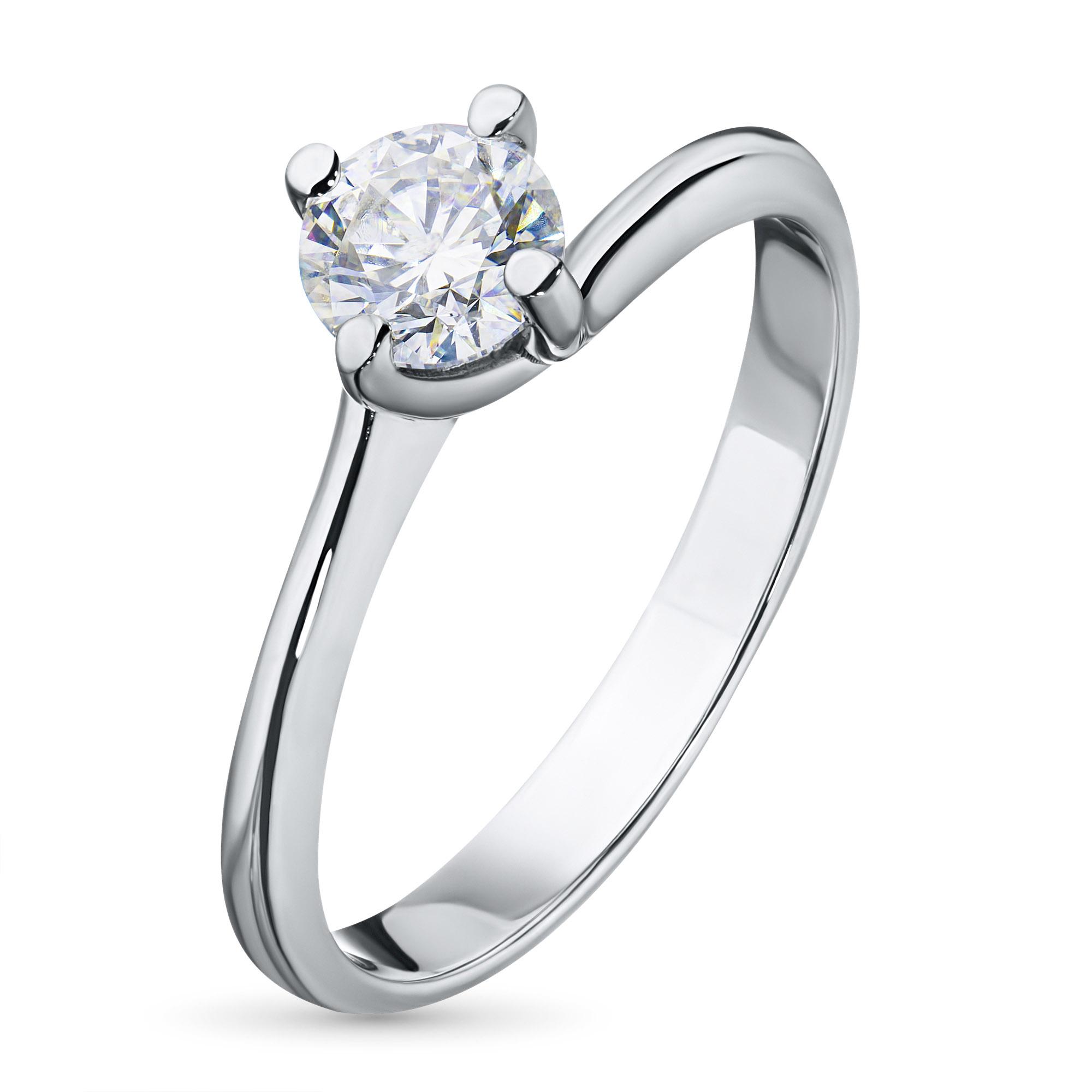 Кольцо из белого золота с бриллиантом азм09к101622