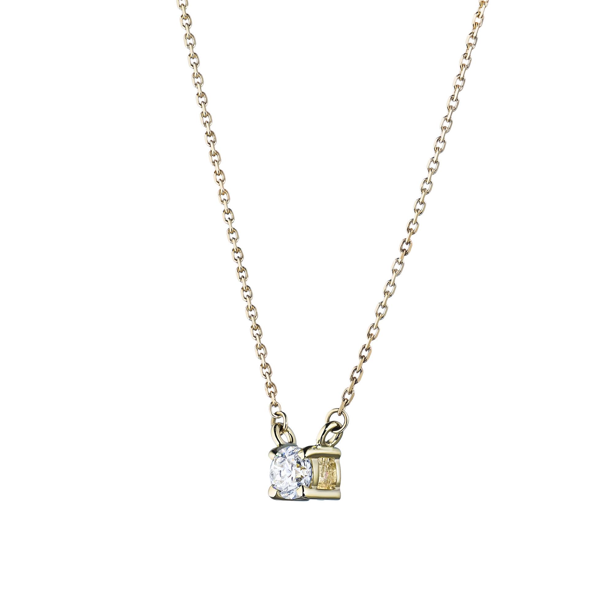 Колье из золота с бриллиантом э0301кл061657001