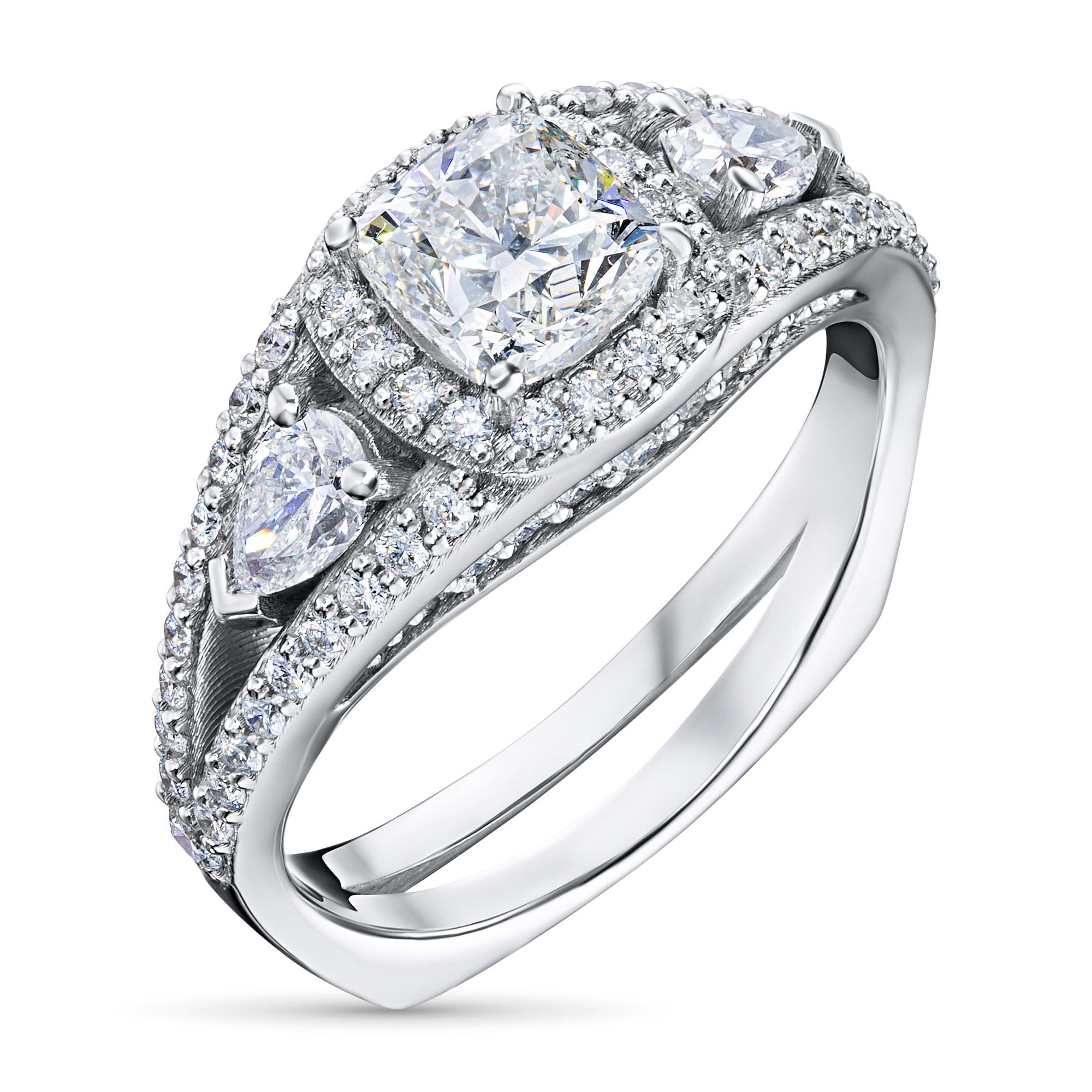 Кольцо из белого золота с бриллиантами э0901кц04210606