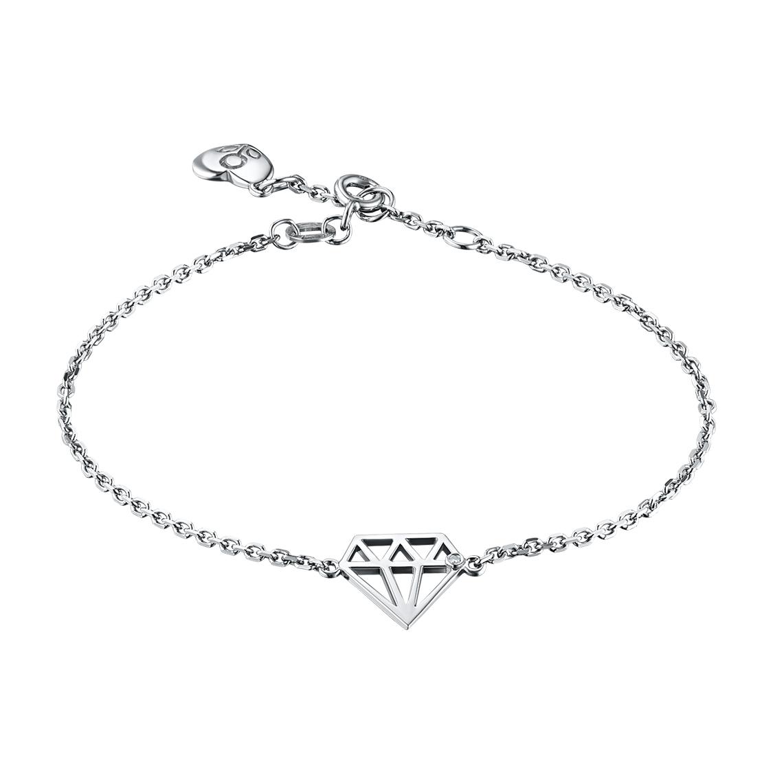 Браслет из серебра с бриллиантом э06бр071721