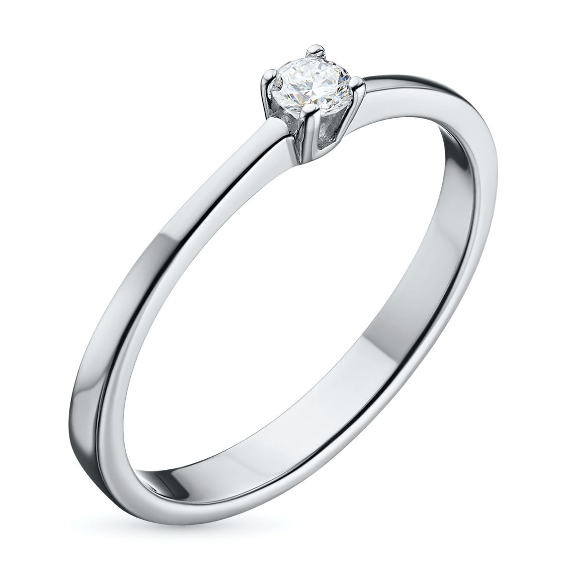 Кольцо из серебра с бриллиантом э06к091524