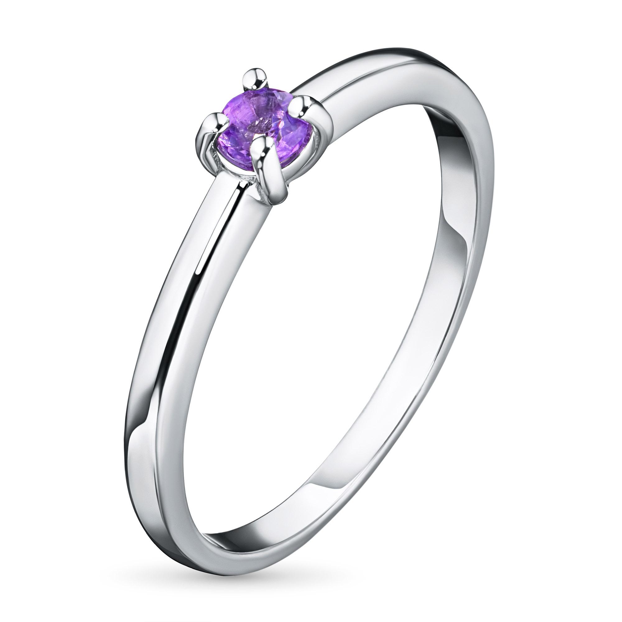 Кольцо из серебра с аметистом э0601кц01162900 фото