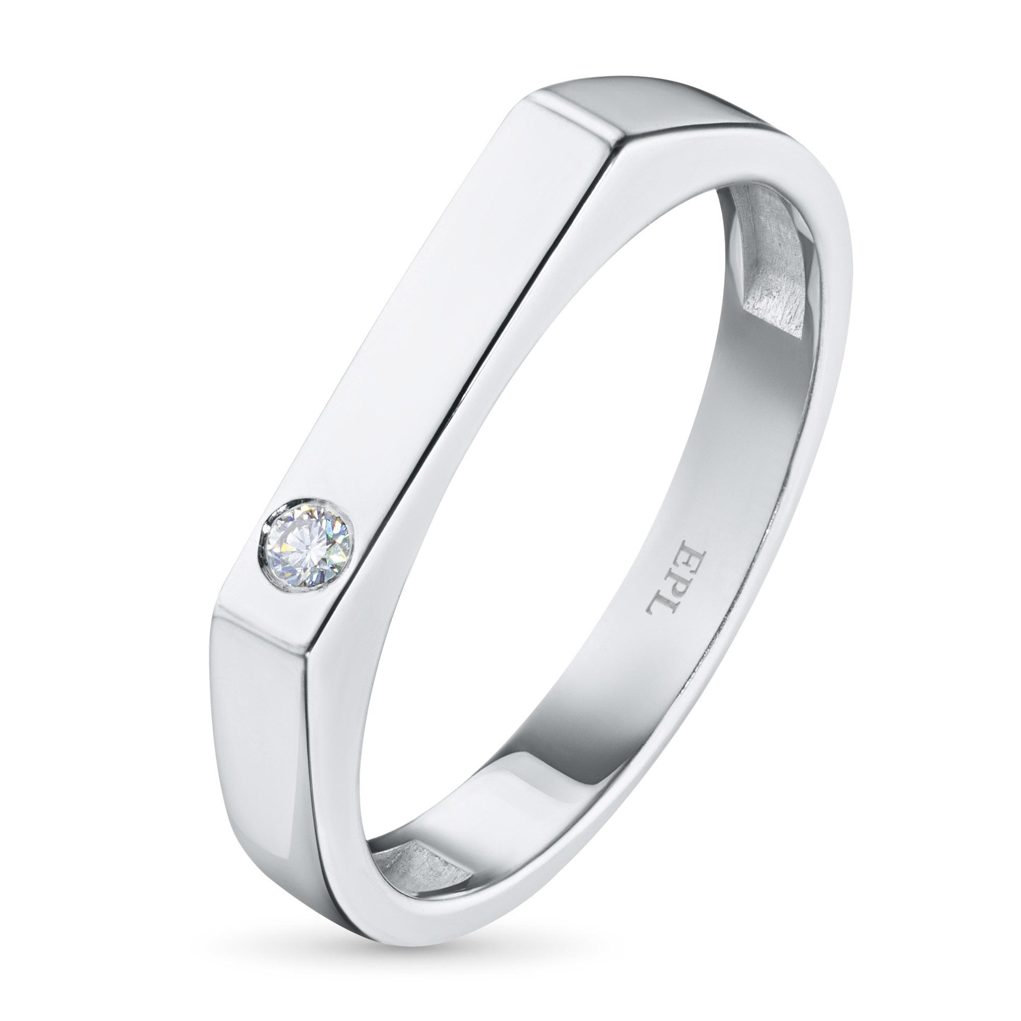 Кольцо из серебра с бриллиантом БВ06к121899