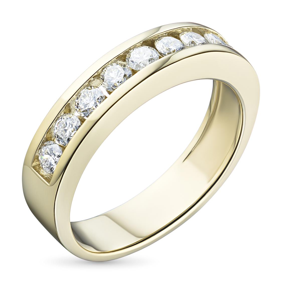 Кольцо из желтого золота с бриллиантами э03к051023