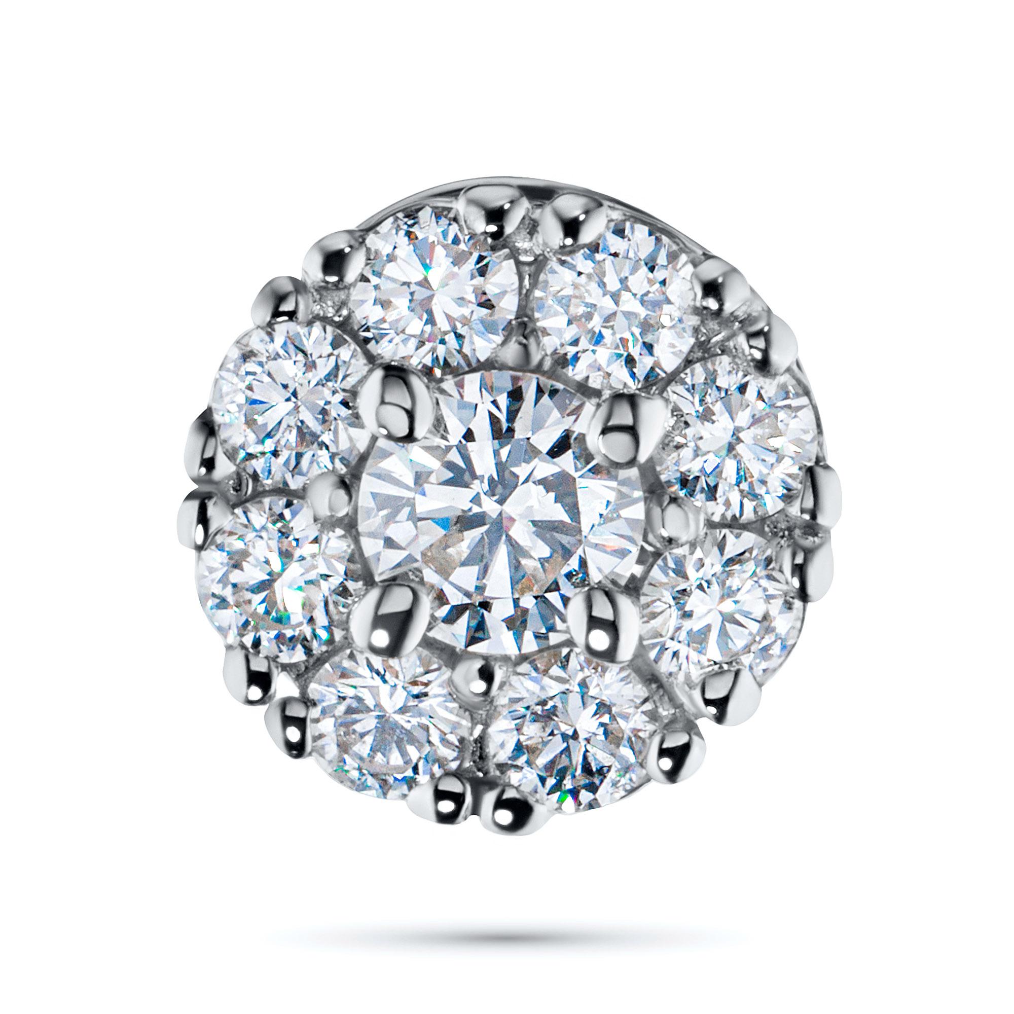 Подвеска из белого золота с бриллиантами э0901пд10163800 э0901пд10163800