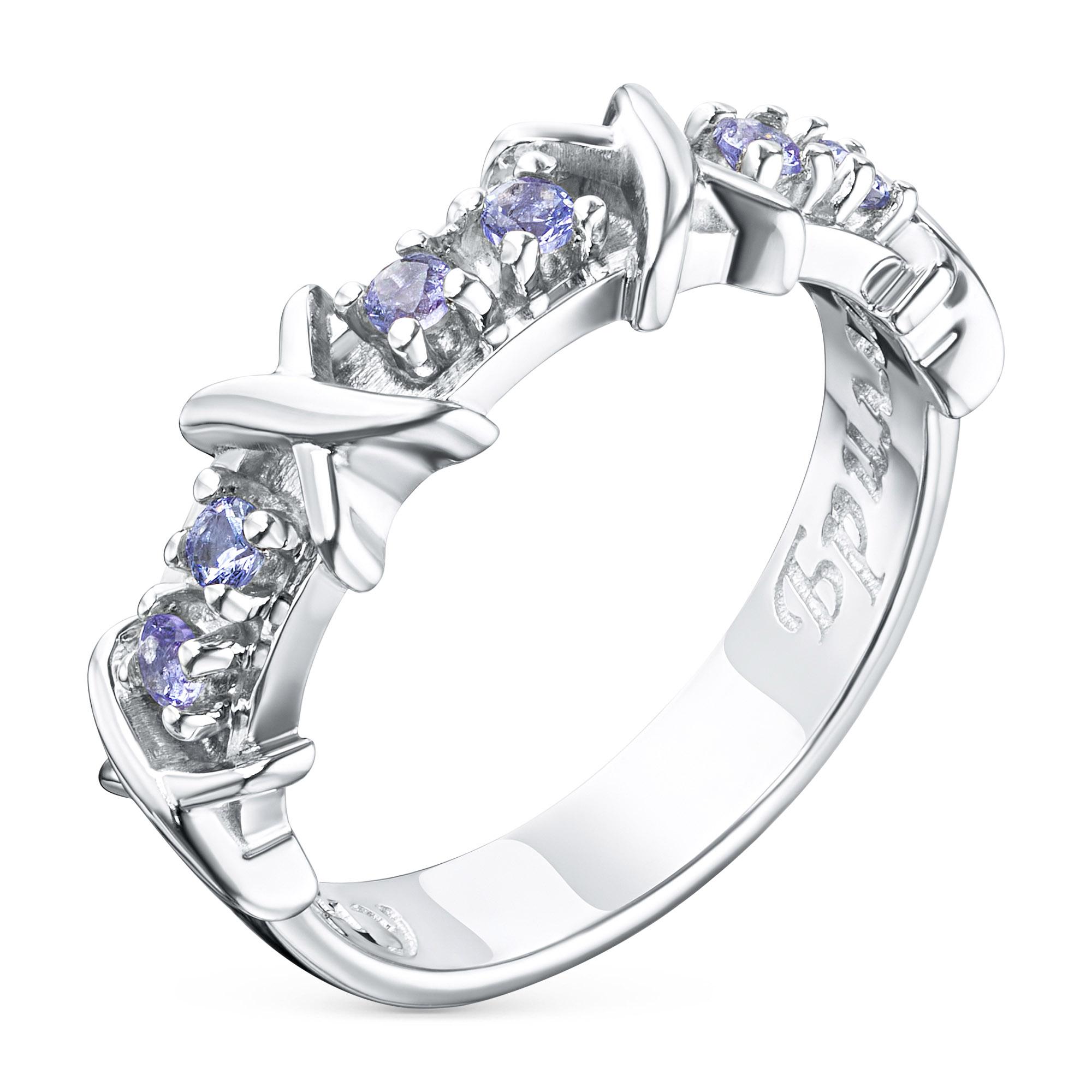Кольцо из серебра с танзанитом э0608кц06164900 э0608кц06164900