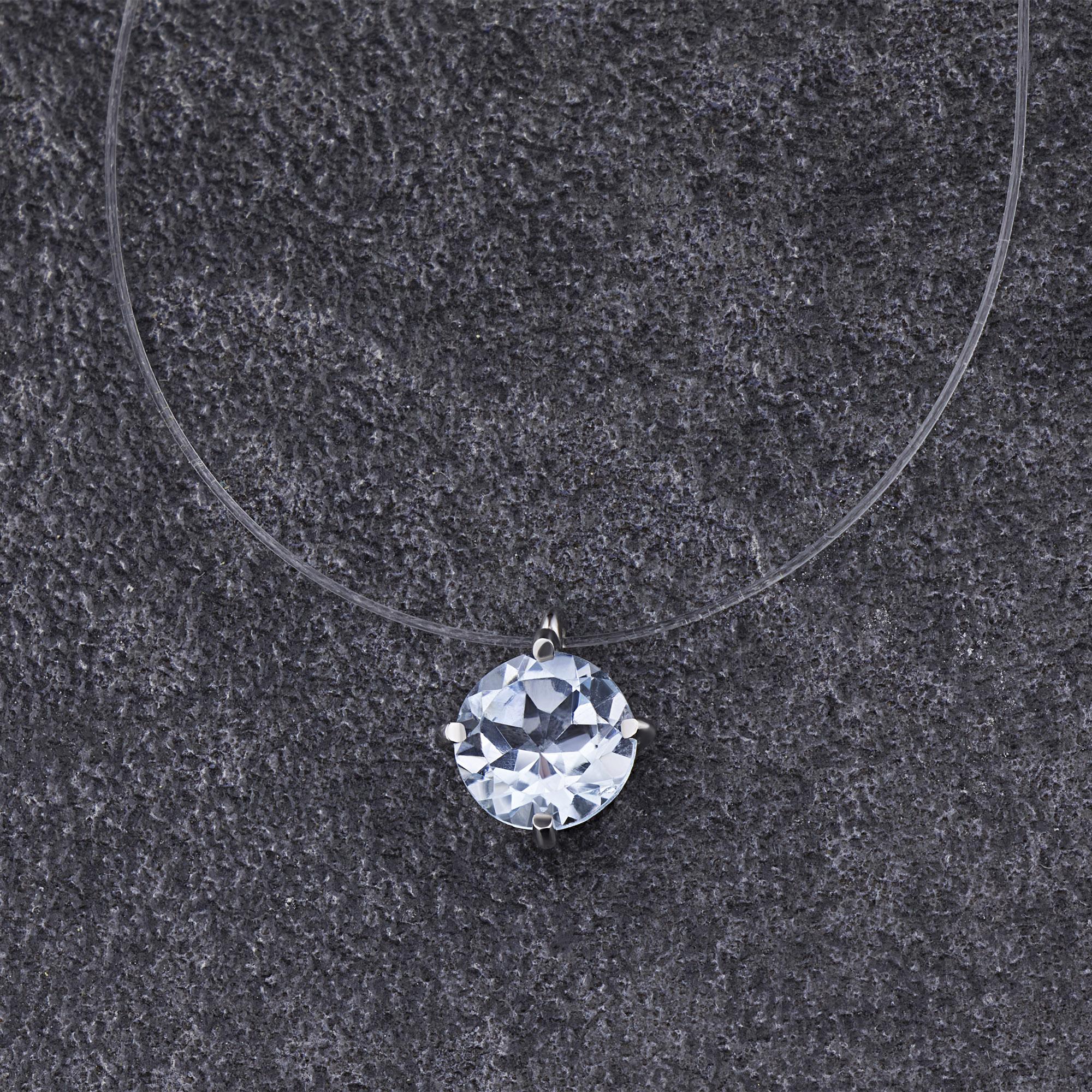 Колье из серебра с топазом э0609кл04200610