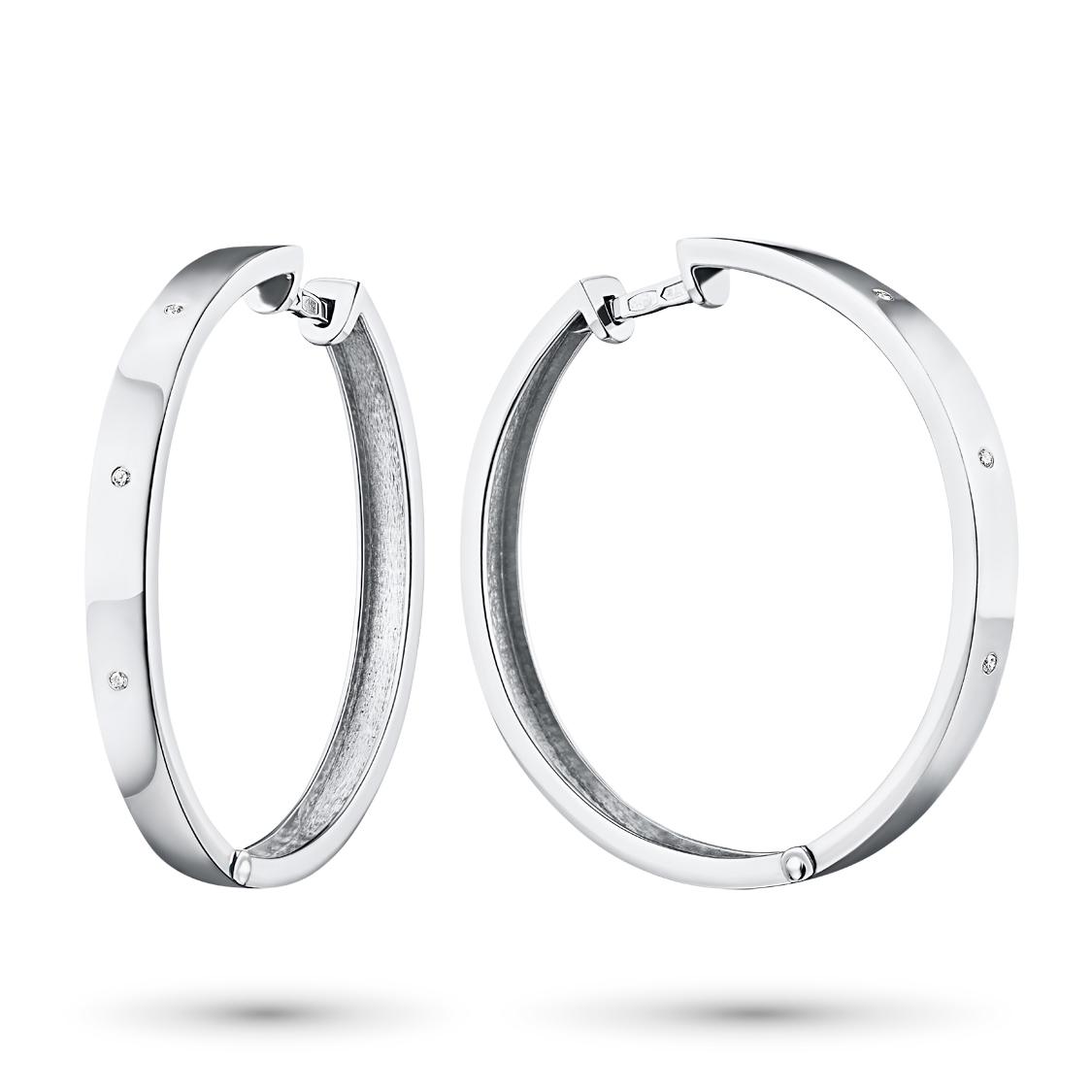 Серьги из серебра с бриллиантом э06с051822