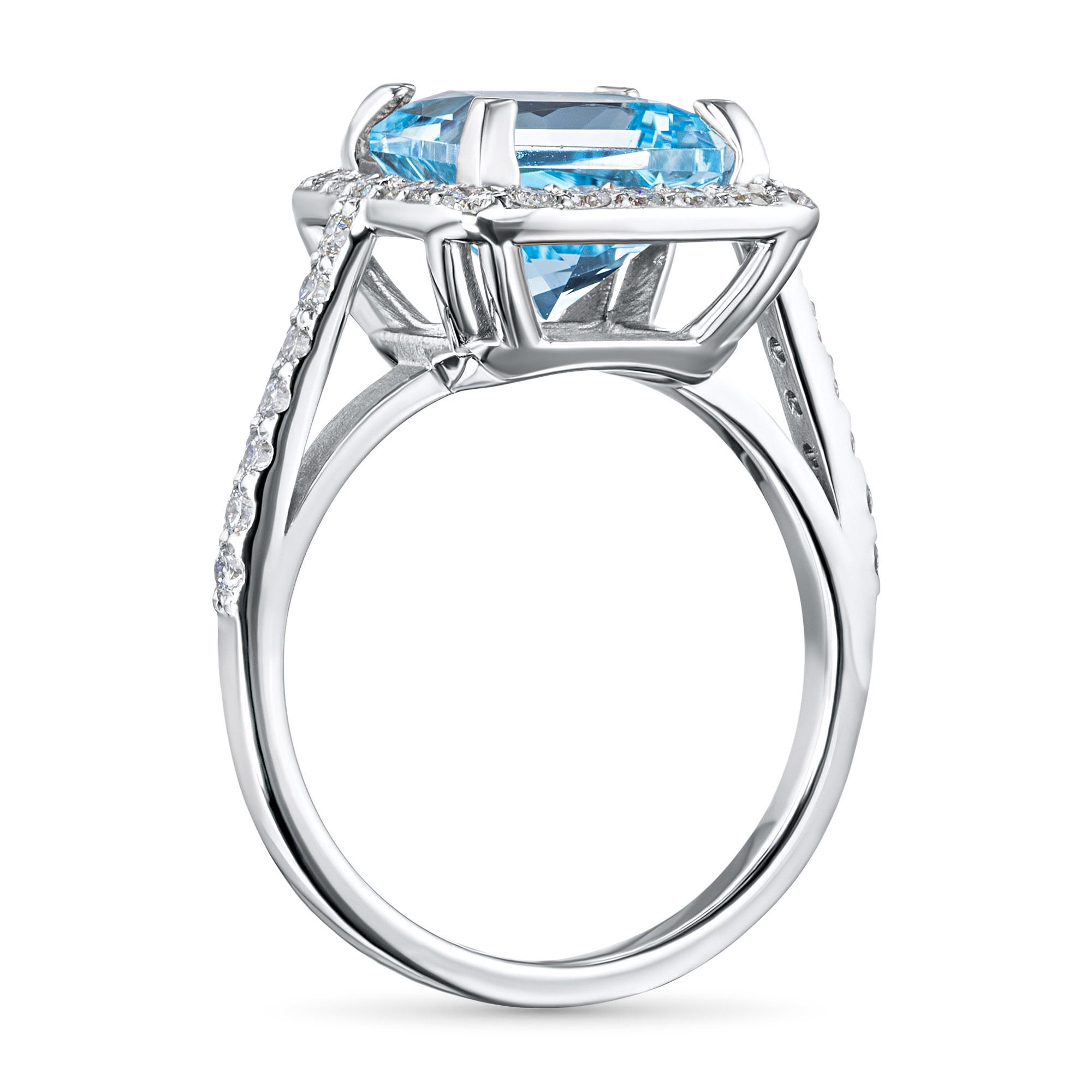 Кольцо из золота с бриллиантом и топазом э0943кц022104543