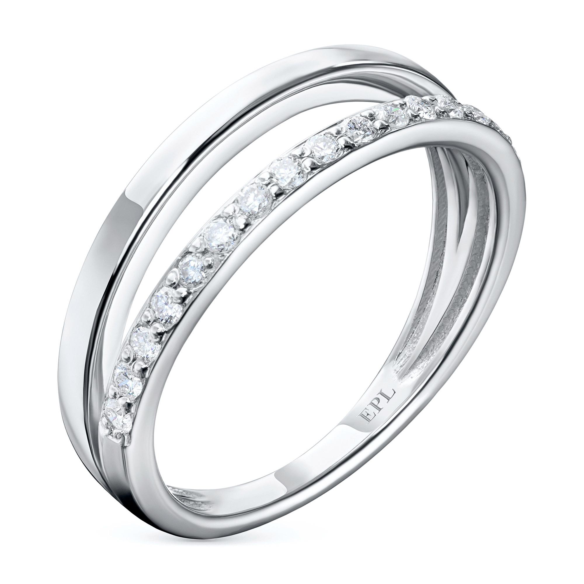 Кольцо из белого золота с бриллиантом э0901кц07210009 э0901кц07210009