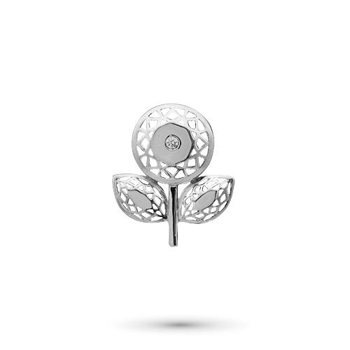Подвеска из серебра с бриллиантом э06пЛоготип