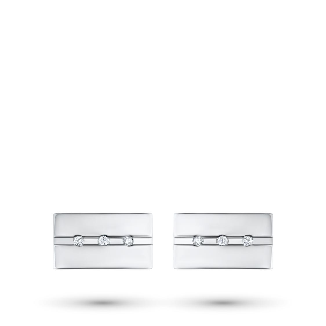 Запонки из серебра с бриллиантом э0601зп01181300