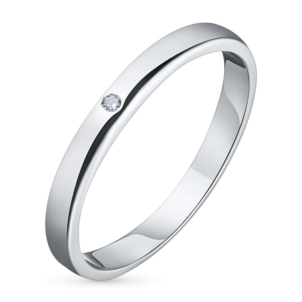 Кольцо из белого золота с бриллиантом э09к031539