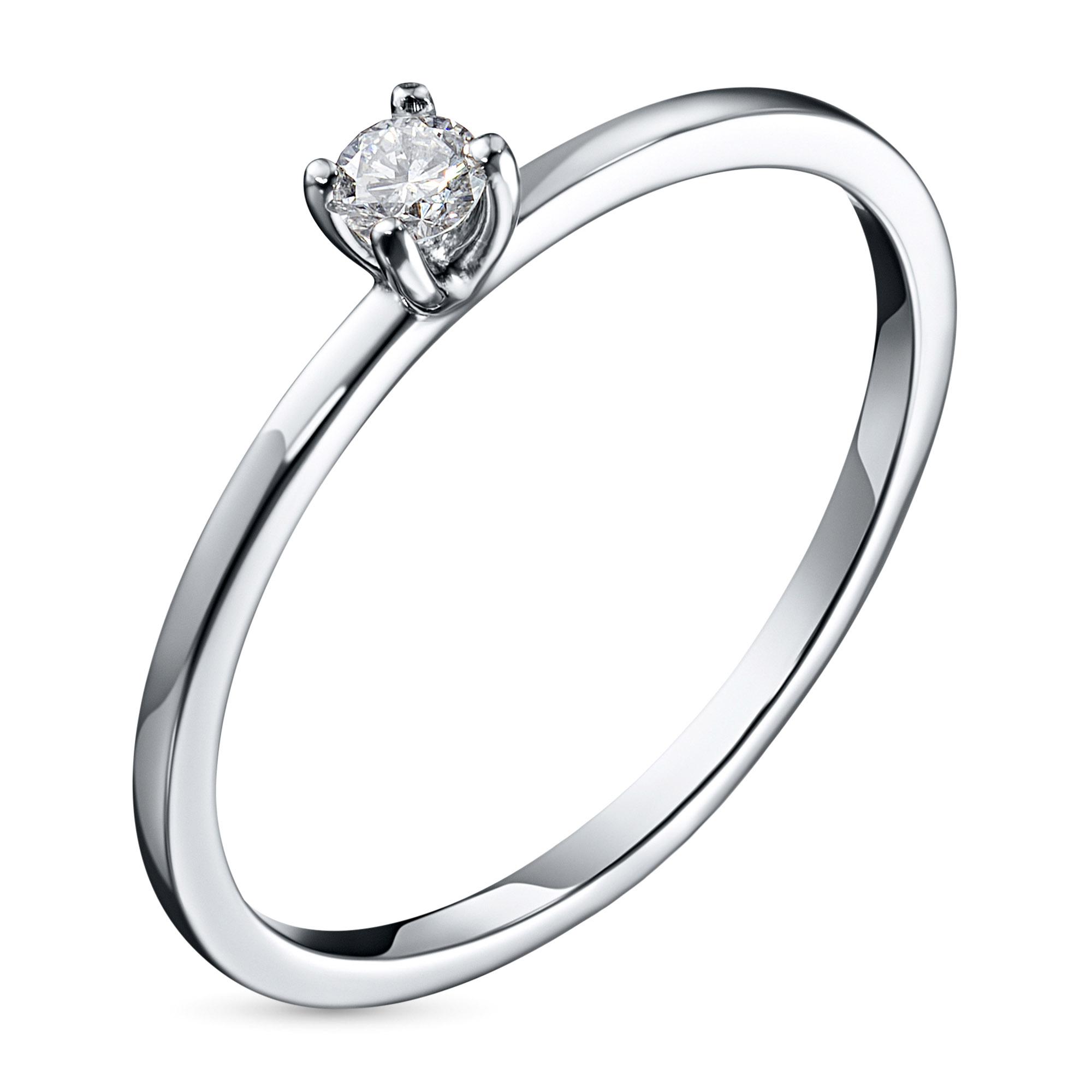 Кольцо из платины с бриллиантом э0501кц10198390 фото