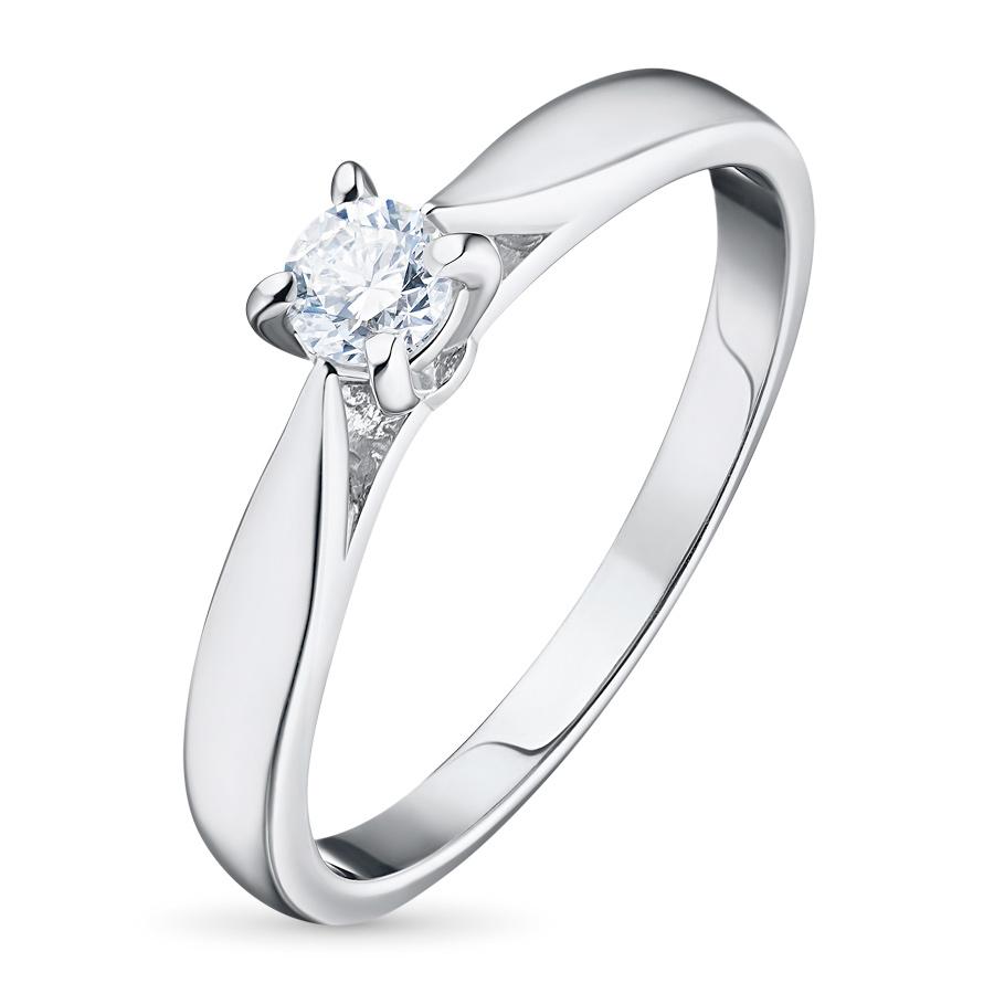 Кольцо из белого золота с бриллиантом э09к091508