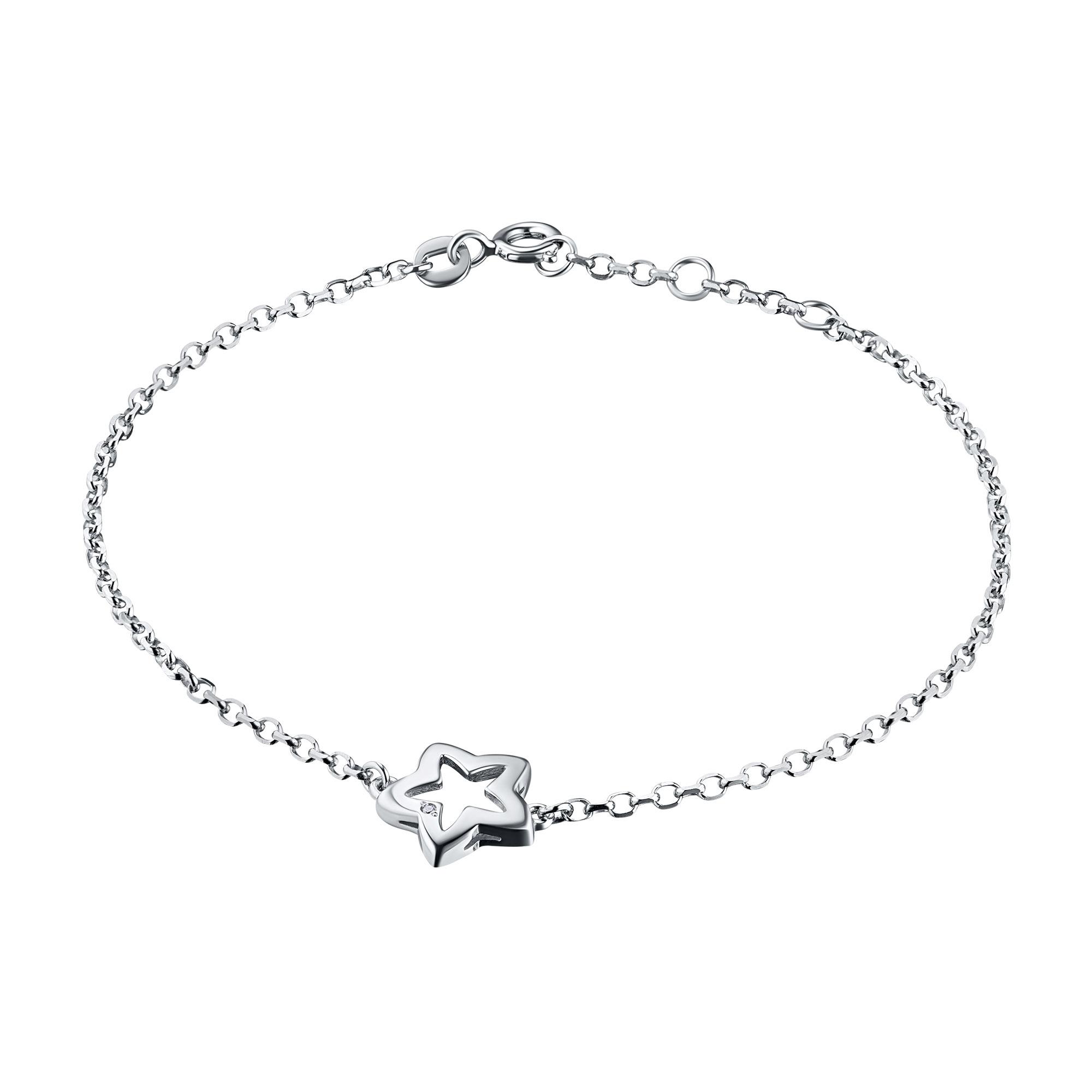 Браслет из серебра с бриллиантом э06бр101805
