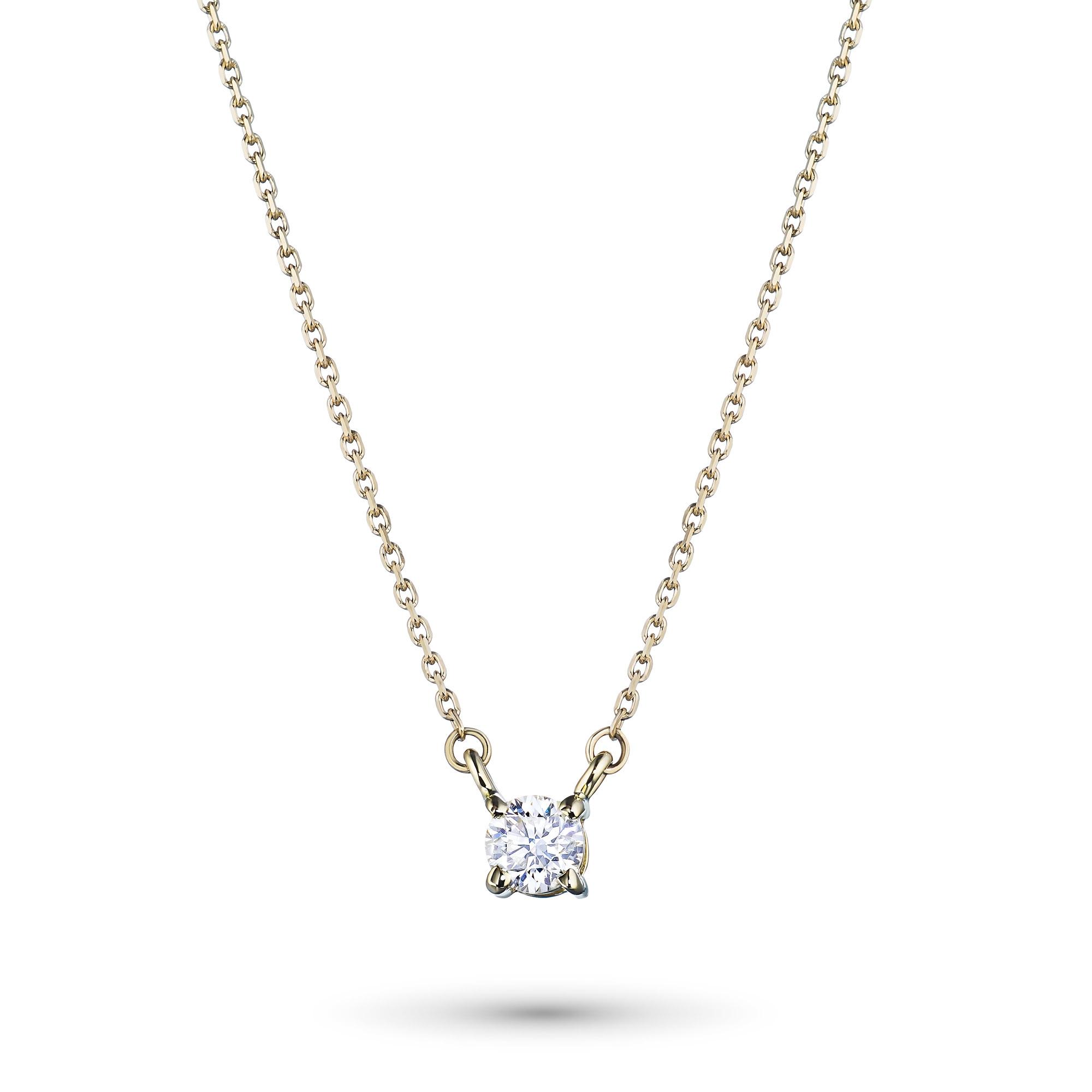 Колье из золота с бриллиантом э0301кл06165700