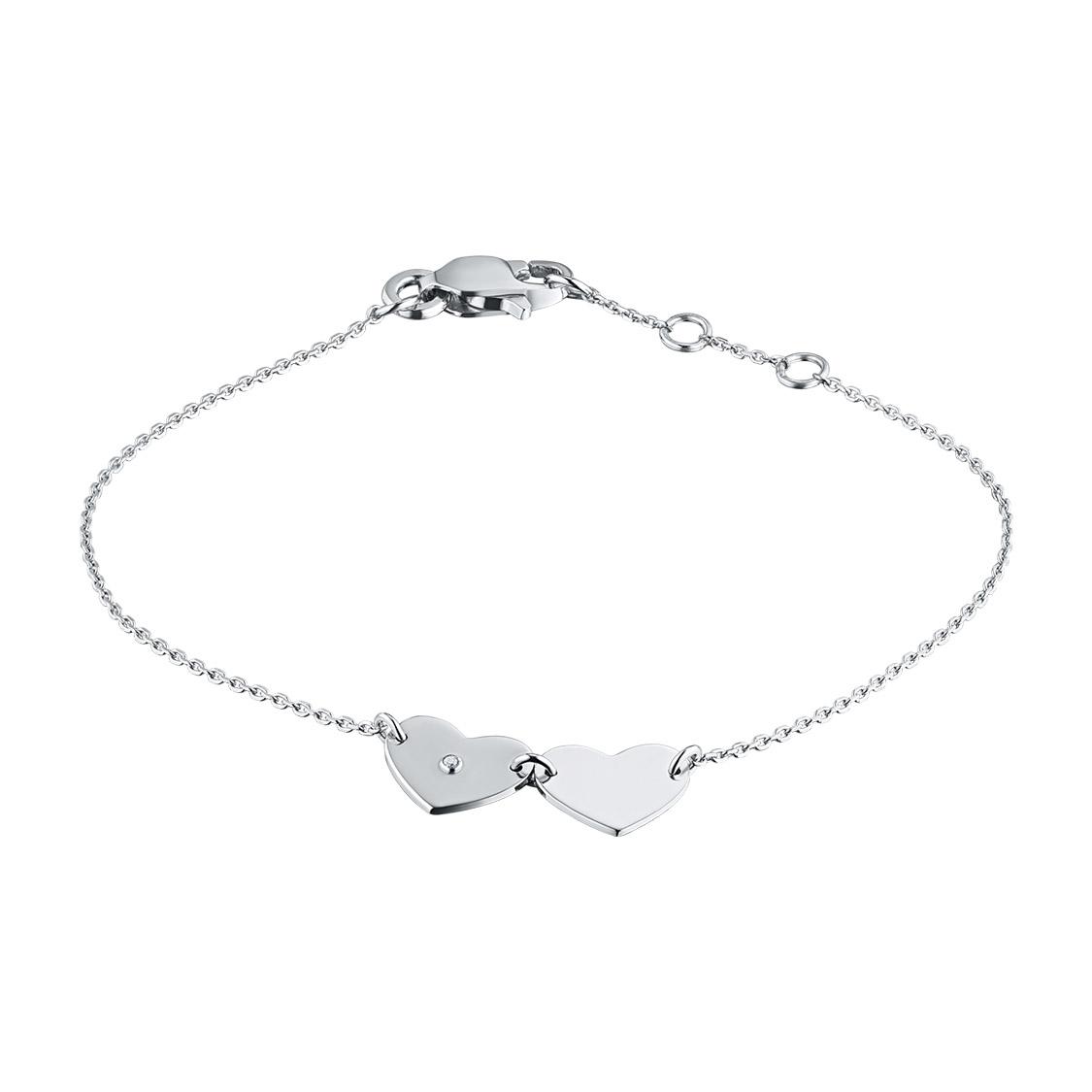 Браслет из серебра с бриллиантом э06Бр031859