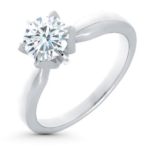 Кольцо из белого золота с бриллиантом э0901кц03080800 фото