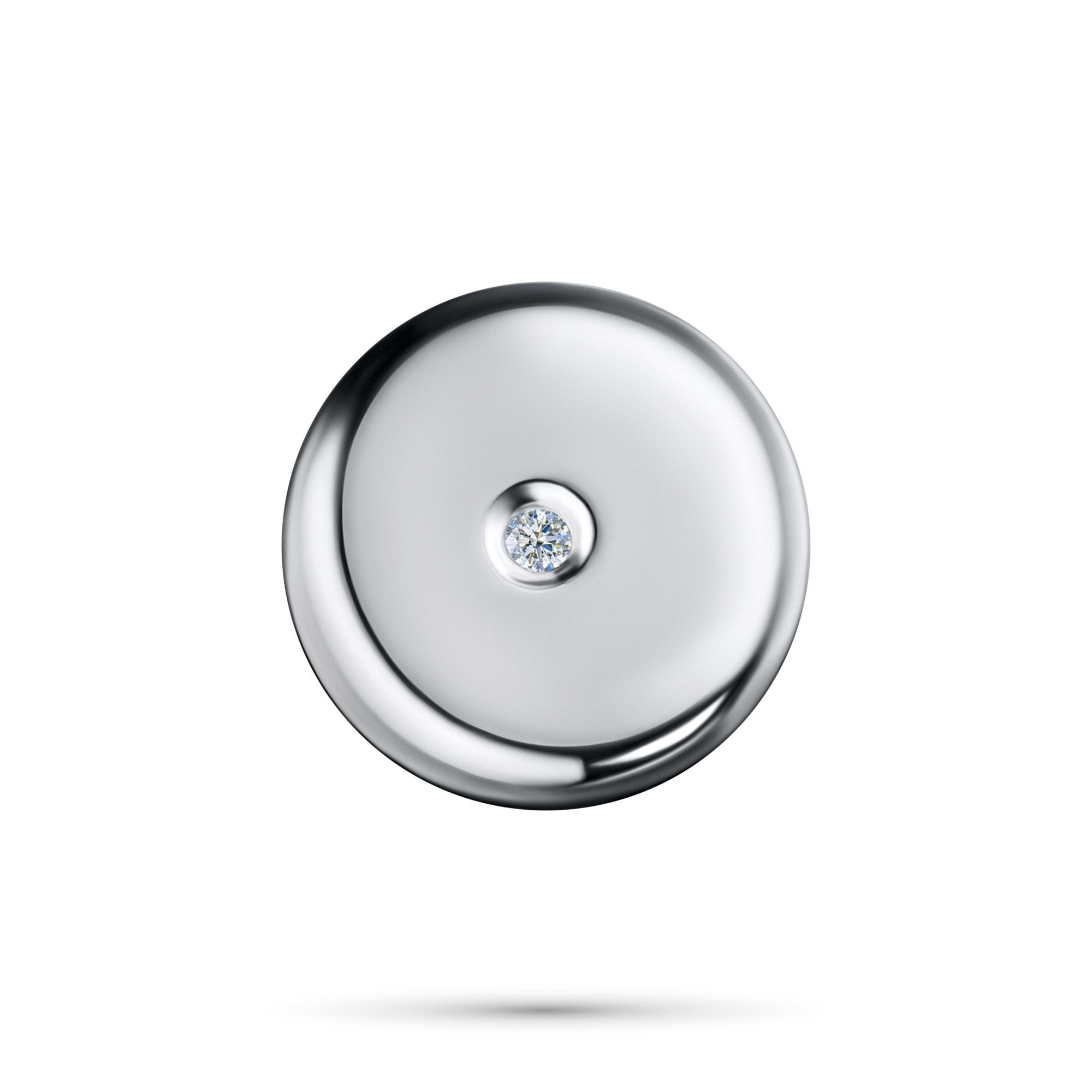 Подвеска из серебра с бриллиантом э06п031522 фото