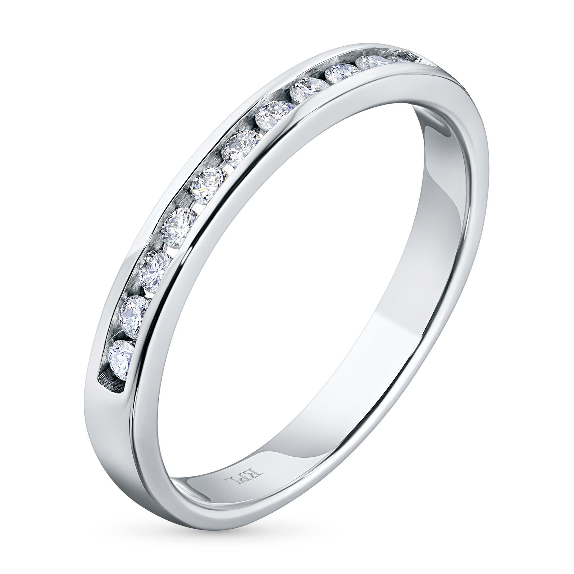 Кольцо из белого золота с бриллиантами э09к041519