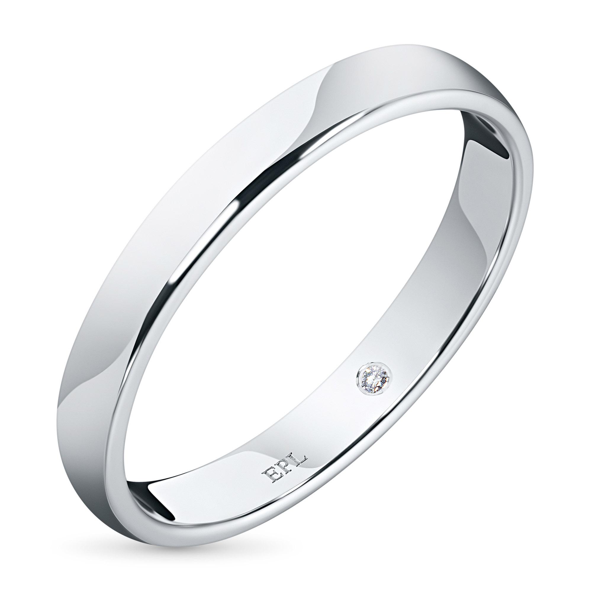 Кольцо из белого золота с бриллиантом э09к051520