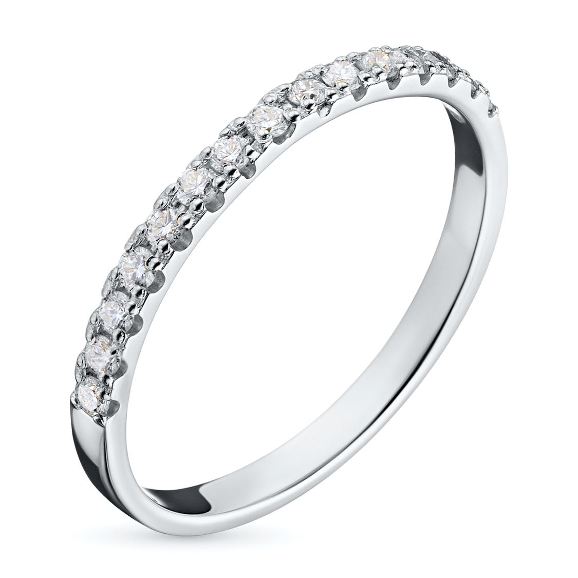 Кольцо из белого золота с бриллиантами э09к081611