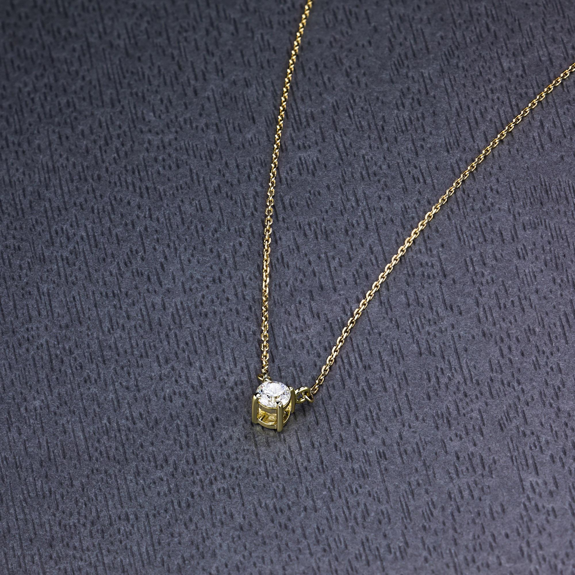 Колье из золота с бриллиантом э0301кл061657003