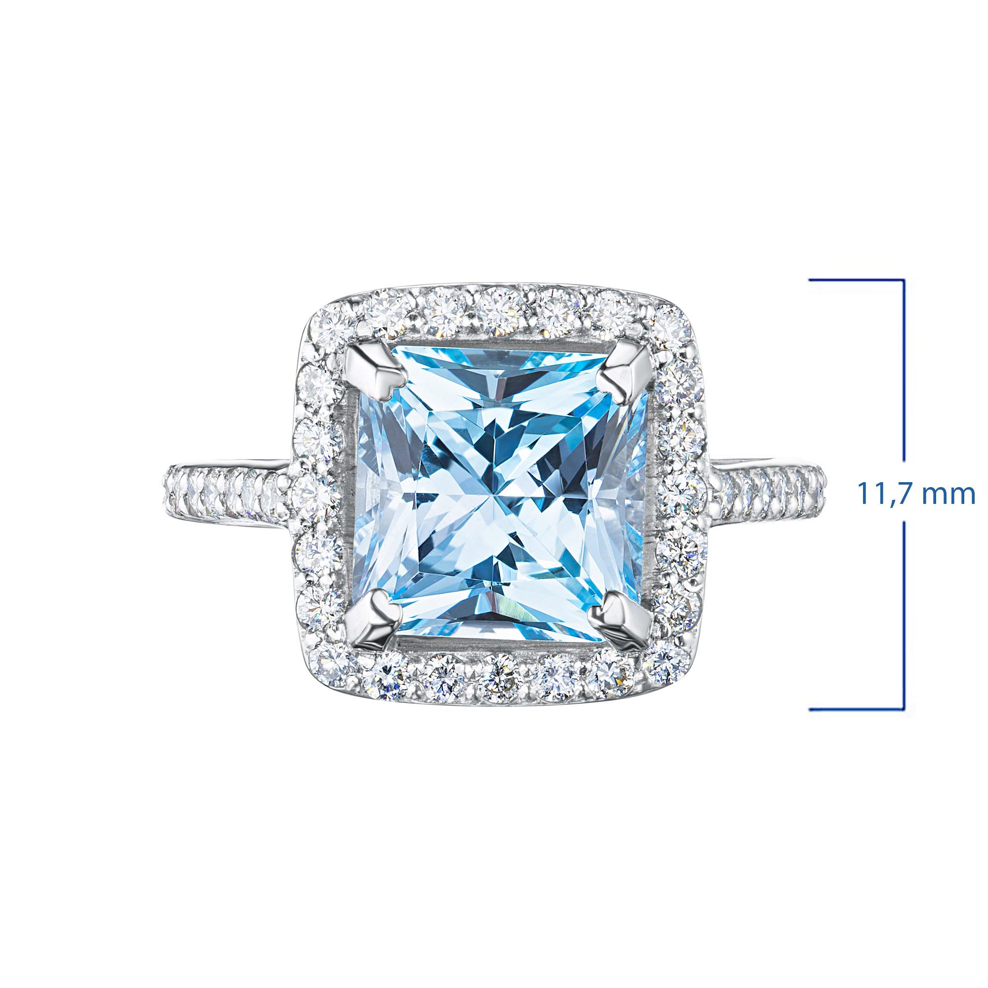 Кольцо из золота с бриллиантом и топазом э0943кц022104542