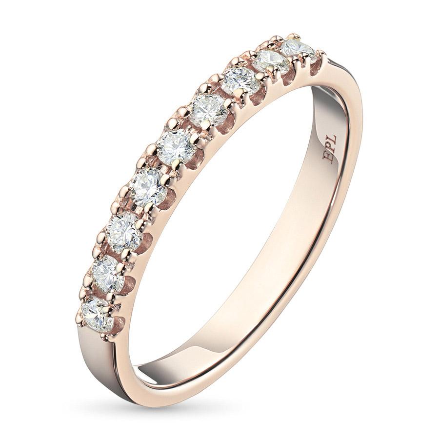 Кольцо из красного золота с бриллиантом э02к081612