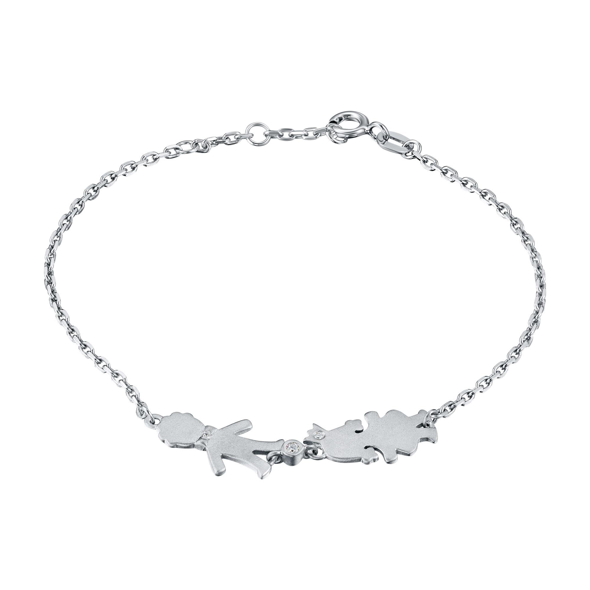 Браслет из серебра с бриллиантами э1701бр10176200