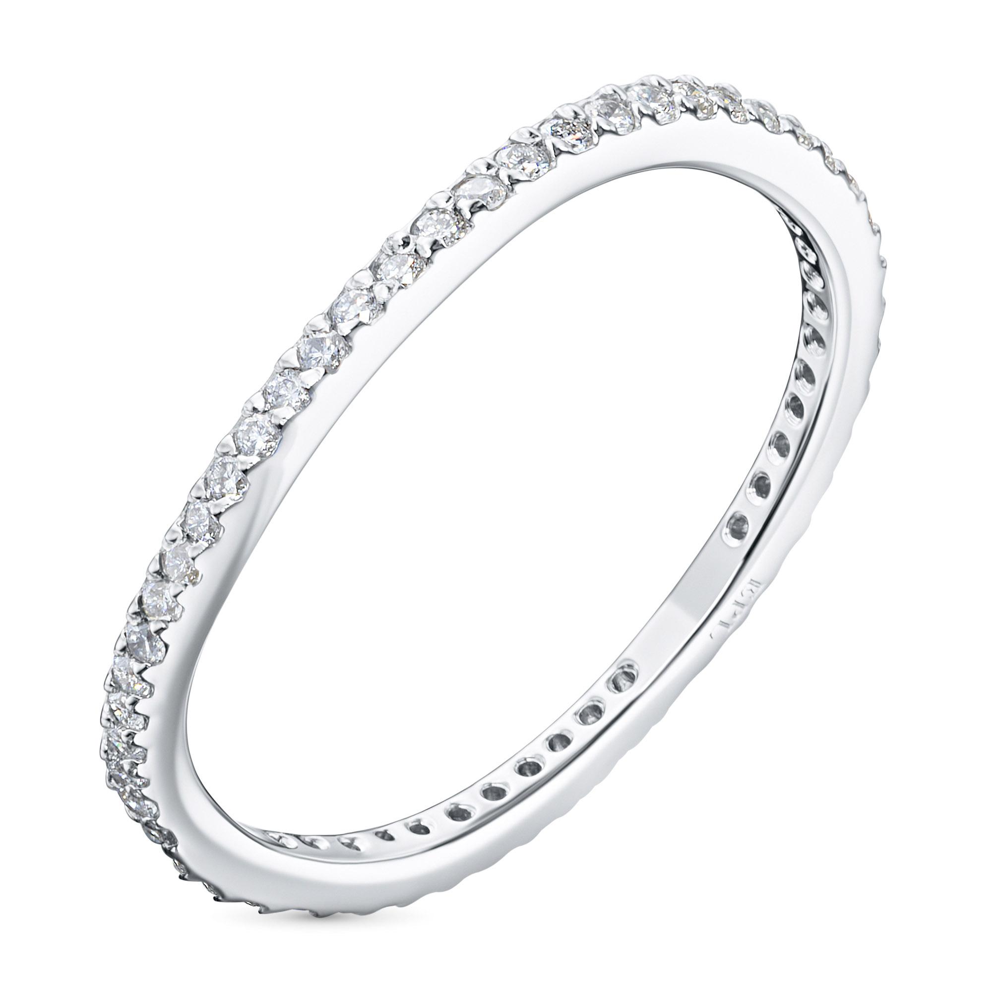 Кольцо из белого золота с бриллиантом э0901кц04210019 э0901кц04210019