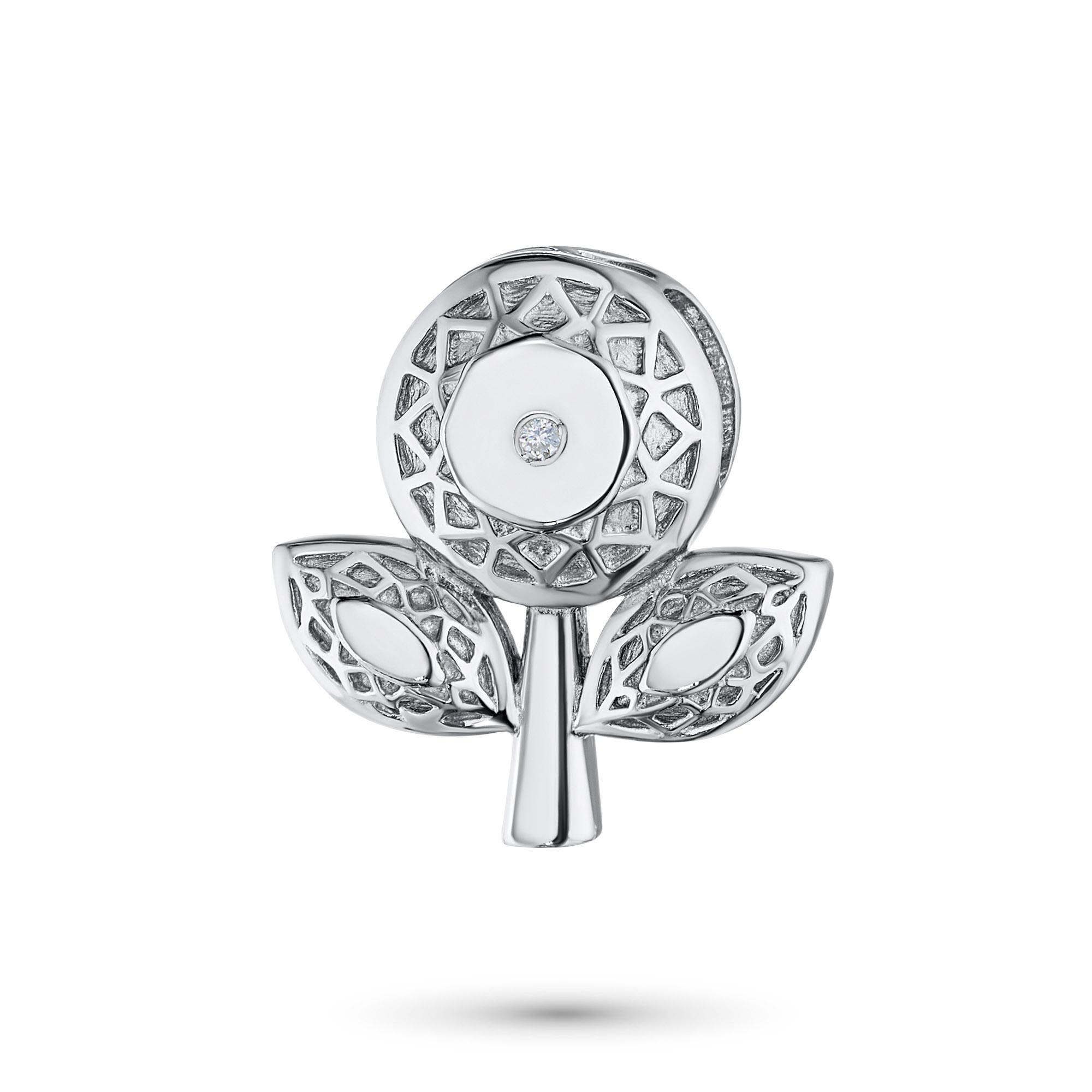 Подвеска из серебра с бриллиантом э06пЛоготипМ