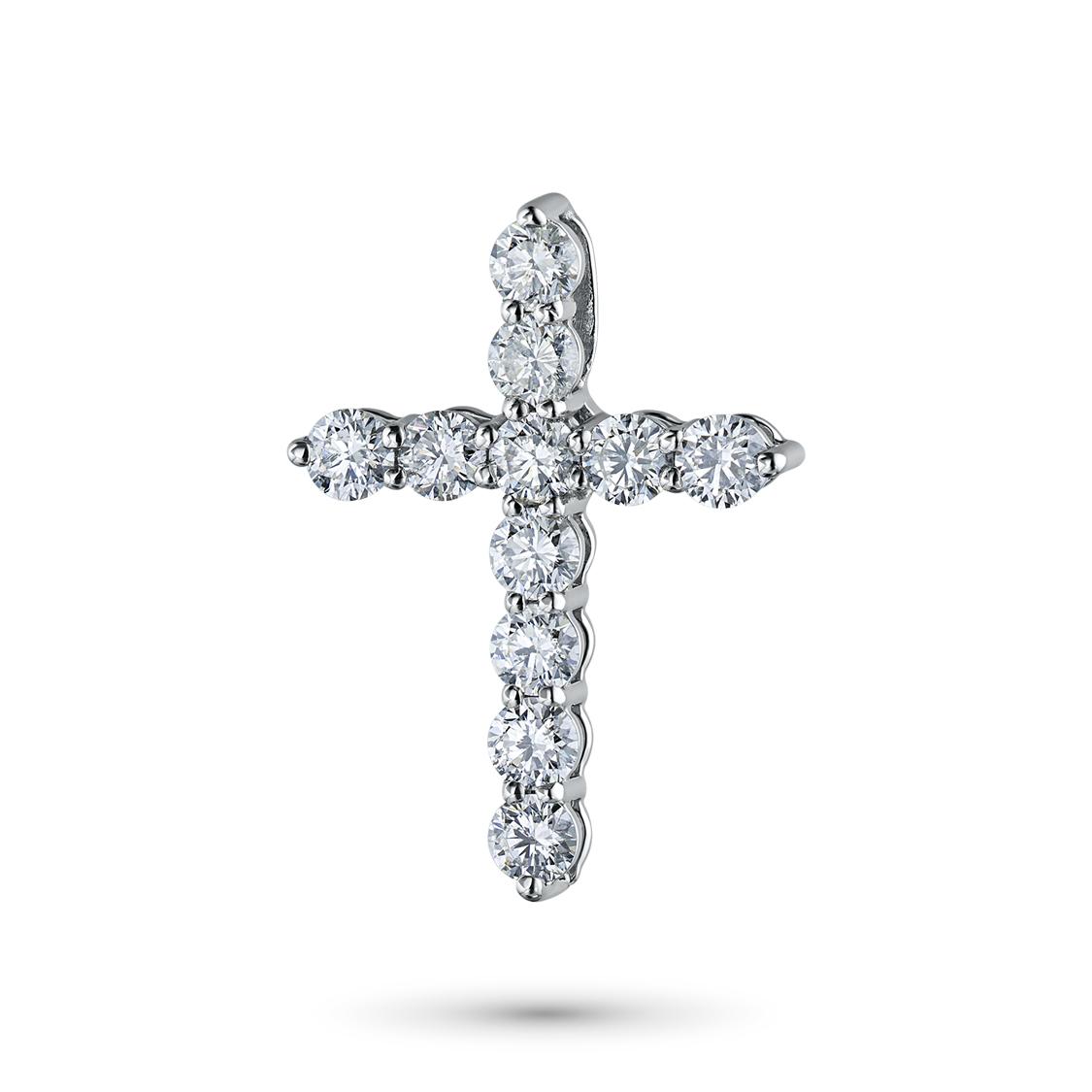 Подвеска из белого золота с бриллиантами э09п061625